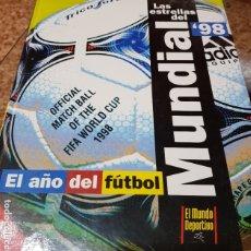 Coleccionismo deportivo: LAS ESTRELLAS DEL MUNDIAL 98 - EL AÑO DEL FUTBOL - MUNDO DEPORTIVO - COMPLETO. Lote 180005663