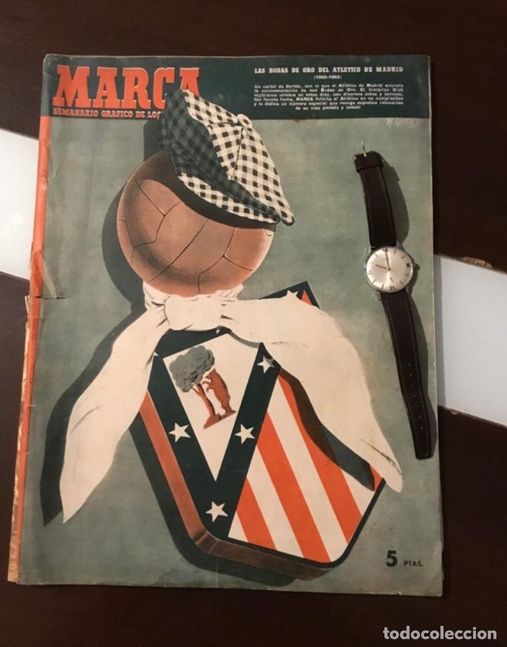 ANTIGUO MARCA ATLETICO DE MADRID BODAS DE ORO 1953 TOTALMENTE ORIGINAL (Coleccionismo Deportivo - Revistas y Periódicos - Marca)