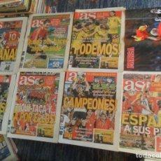 Coleccionismo deportivo: LOTE 7 DIARIO AS ESPAÑA CAMPEONA DE EUROPA EUROCOPA 2008. REGALO PÓSTER LUIS ARAGONÉS. . Lote 180165397