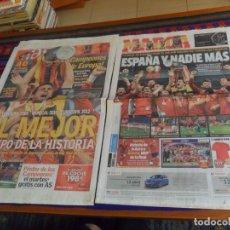 Coleccionismo deportivo: MARCA 2 DE JULIO 2012 ESPAÑA CAMPEONA DE EUROPA EUROCOPA 4 0 A ITALIA. REGALO AS 15062 DEL MISMO DÍA. Lote 180166860