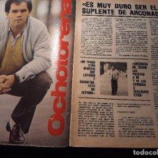 Coleccionismo deportivo: ENTREVISTA A OCHOTORENA - PORTERO DE LA REAL SOCIEDAD - AÑO 1982 - 3 PAGINAS. Lote 180231207