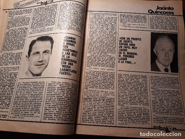 Coleccionismo deportivo: ENTREVISTA A JACINTO QUINCOCES - AÑO 1982 - 4 PAGINAS - Foto 2 - 180233245