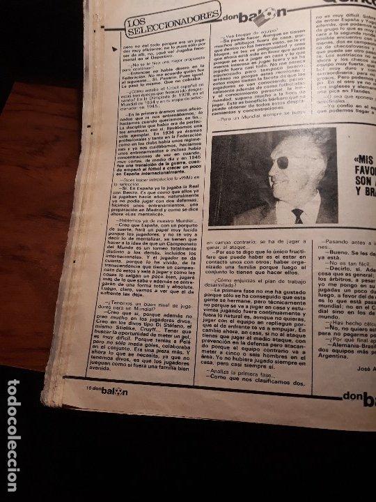 Coleccionismo deportivo: ENTREVISTA A JACINTO QUINCOCES - AÑO 1982 - 4 PAGINAS - Foto 3 - 180233245