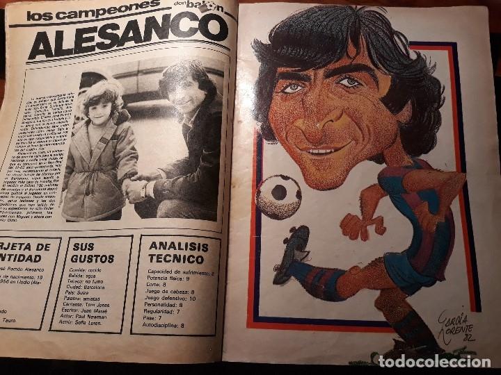 REPORTAJE SOBRE EL JUGADOR DEL BARCELONA ALESANCO - AÑO 1982 9 PAGINAS (Coleccionismo Deportivo - Revistas y Periódicos - Don Balón)