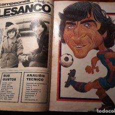 Coleccionismo deportivo: REPORTAJE SOBRE EL JUGADOR DEL BARCELONA ALESANCO - AÑO 1982 9 PAGINAS. Lote 180234401