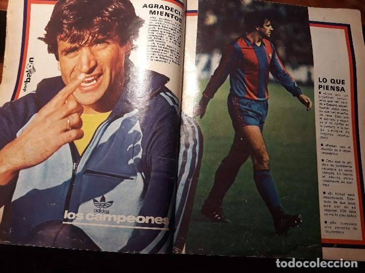 Coleccionismo deportivo: REPORTAJE SOBRE EL JUGADOR DEL BARCELONA ALESANCO - AÑO 1982 9 PAGINAS - Foto 2 - 180234401