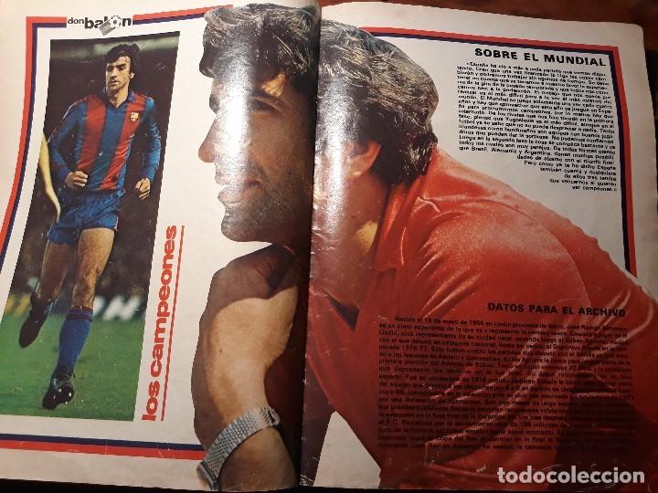 Coleccionismo deportivo: REPORTAJE SOBRE EL JUGADOR DEL BARCELONA ALESANCO - AÑO 1982 9 PAGINAS - Foto 3 - 180234401