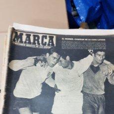 Coleccionismo deportivo: REVISTA MARCA 28 JUNIO 1958 EL MADRID CAMPEON DE LA COPA LATINA. Lote 180286843