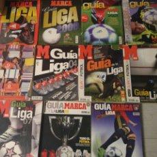 Coleccionismo deportivo: LOTE DE 12 MARCA GUIA LIGA DEL 98/99 A 2010. Lote 180322488