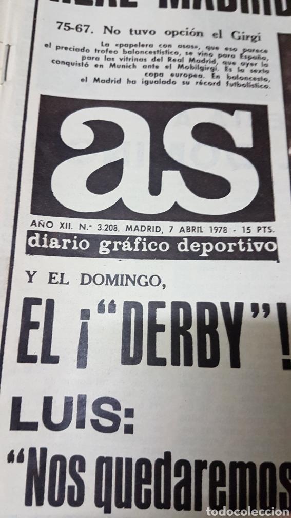 Coleccionismo deportivo: 7 abril 1978 Real Madrid campeon europeo de baloncesto - Foto 2 - 180348426