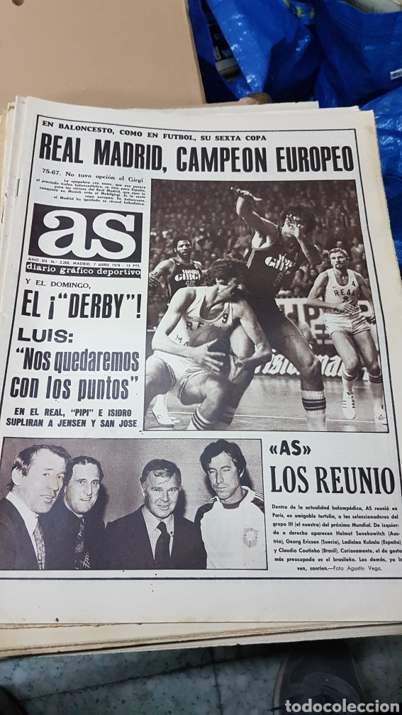7 ABRIL 1978 REAL MADRID CAMPEON EUROPEO DE BALONCESTO (Coleccionismo Deportivo - Revistas y Periódicos - As)