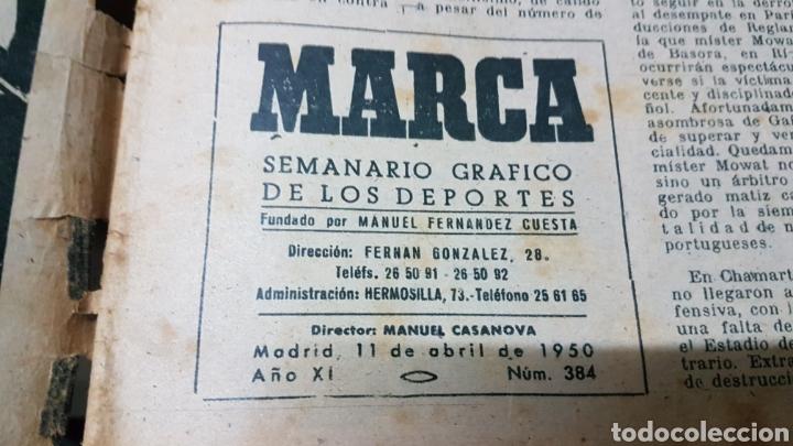 Coleccionismo deportivo: Revista Marca 11 abril 1950 España Portugal - Foto 2 - 180388661