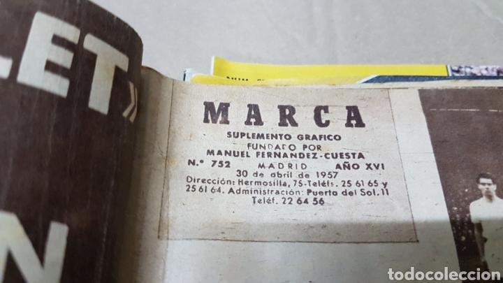 Coleccionismo deportivo: Revista Marca 30 abril 1957 mister di Stéfano llega a Barajas - Foto 3 - 180389065