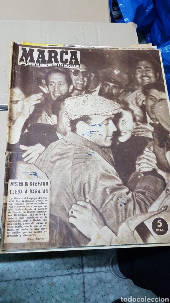 REVISTA MARCA 30 ABRIL 1957 MISTER DI STÉFANO LLEGA A BARAJAS (Coleccionismo Deportivo - Revistas y Periódicos - Marca)