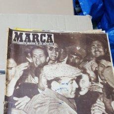 Coleccionismo deportivo: REVISTA MARCA 30 ABRIL 1957 MISTER DI STÉFANO LLEGA A BARAJAS. Lote 180389065