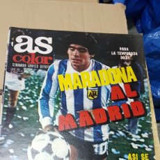 Coleccionismo deportivo: REVISTA AS COLOR 14 DE JULIO 1979 MARADONA AL MADRID. Lote 180392678