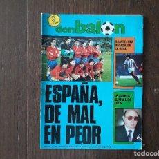 Coleccionismo deportivo: REVISTA DON BALÓN NÚMERO 593 AÑO 1987. Lote 180420596