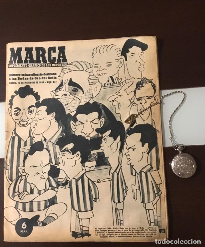 ANTIGUO MARCA 1958 BODAS DE ORO DEL REAL BETIS BALOMPIÉ TOTALMENTE ORIGINAL (Coleccionismo Deportivo - Revistas y Periódicos - Marca)