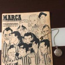 Coleccionismo deportivo: ANTIGUO MARCA 1958 BODAS DE ORO DEL REAL BETIS BALOMPIÉ TOTALMENTE ORIGINAL. Lote 180517250