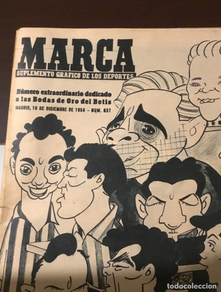 Coleccionismo deportivo: Antiguo marca 1958 bodas de oro del Real Betis balompié totalmente original - Foto 2 - 180517250