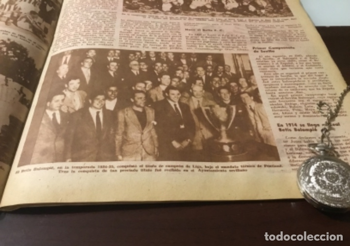 Coleccionismo deportivo: Antiguo marca 1958 bodas de oro del Real Betis balompié totalmente original - Foto 6 - 180517250
