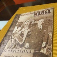 Coleccionismo deportivo: ANTIGUO MARCA 1957 BARCELONA CAMPEÓN DE COPA MUY BUEN ESTADO. Lote 180907075