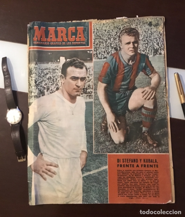 DI STEFANO Y KUBALA REVISTA MARCA 1953 (Coleccionismo Deportivo - Revistas y Periódicos - Marca)