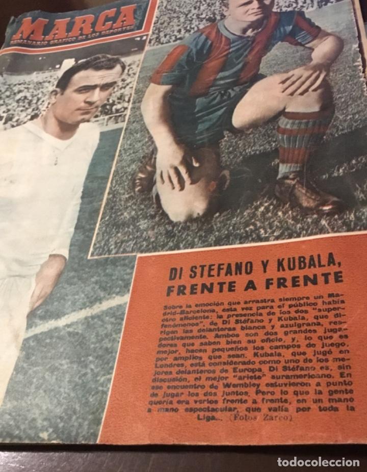 Coleccionismo deportivo: Di Stefano y Kubala revista marca 1953 - Foto 3 - 180974788