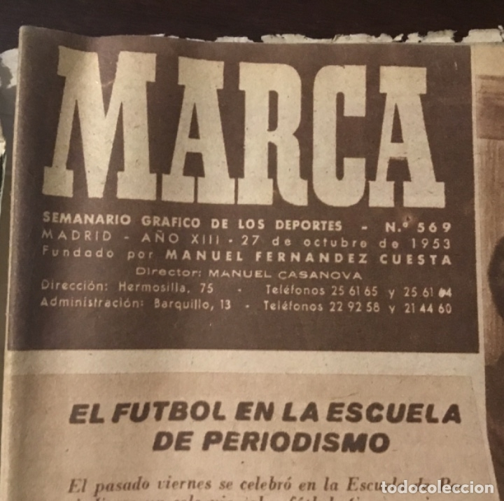 Coleccionismo deportivo: Di Stefano y Kubala revista marca 1953 - Foto 5 - 180974788
