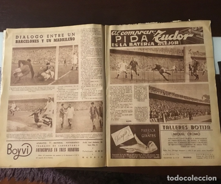 Coleccionismo deportivo: Di Stefano y Kubala revista marca 1953 - Foto 7 - 180974788