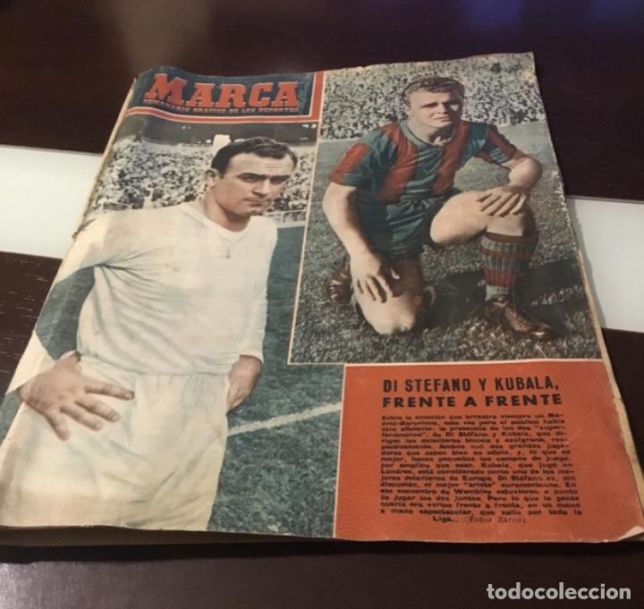 Coleccionismo deportivo: Di Stefano y Kubala revista marca 1953 - Foto 15 - 180974788