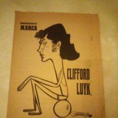 Coleccionismo deportivo: 2 SEPTIEMBRE 1971.CLIFFORD LUYK EL GANCHO DE ORO . MINIBIOGRAFIAS MARCA. FUTBOLISTA. Lote 180977360