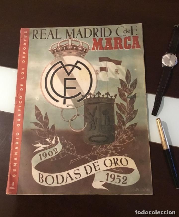 BODAS DE ORO DEL REAL MADRID 1952 ANTIGUA REVISTA MARCA FÚTBOL (Coleccionismo Deportivo - Revistas y Periódicos - Marca)