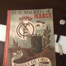 Coleccionismo deportivo: BODAS DE ORO DEL REAL MADRID 1952 ANTIGUA REVISTA MARCA FÚTBOL. Lote 180993322