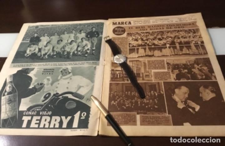 Coleccionismo deportivo: Bodas de oro del Real Madrid 1952 antigua revista marca fútbol - Foto 4 - 180993322
