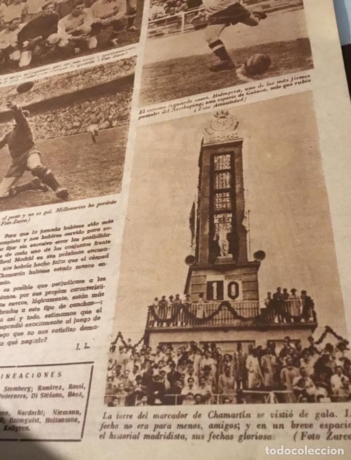 Coleccionismo deportivo: Bodas de oro del Real Madrid 1952 antigua revista marca fútbol - Foto 6 - 180993322