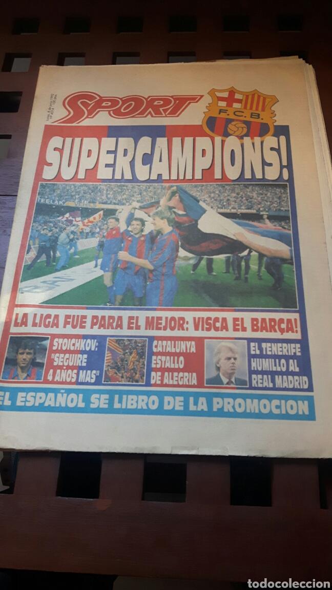 BARÇA CAMPEON DE LIGA 1992 (Coleccionismo Deportivo - Revistas y Periódicos - Sport)