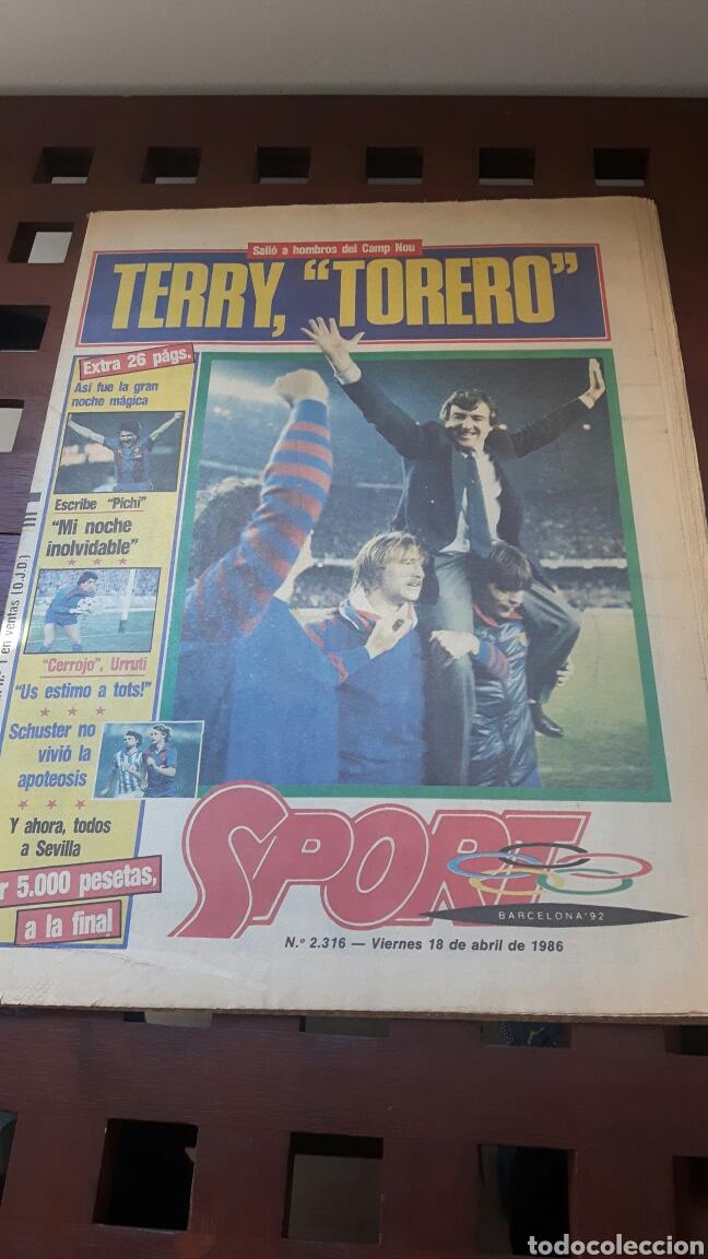 BARÇA FINAL COPA DE EUROPA 1986 (Coleccionismo Deportivo - Revistas y Periódicos - Sport)