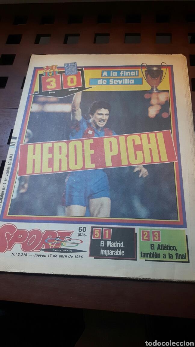 BARÇA FINAL COPA EUROPA 1986 (Coleccionismo Deportivo - Revistas y Periódicos - Sport)
