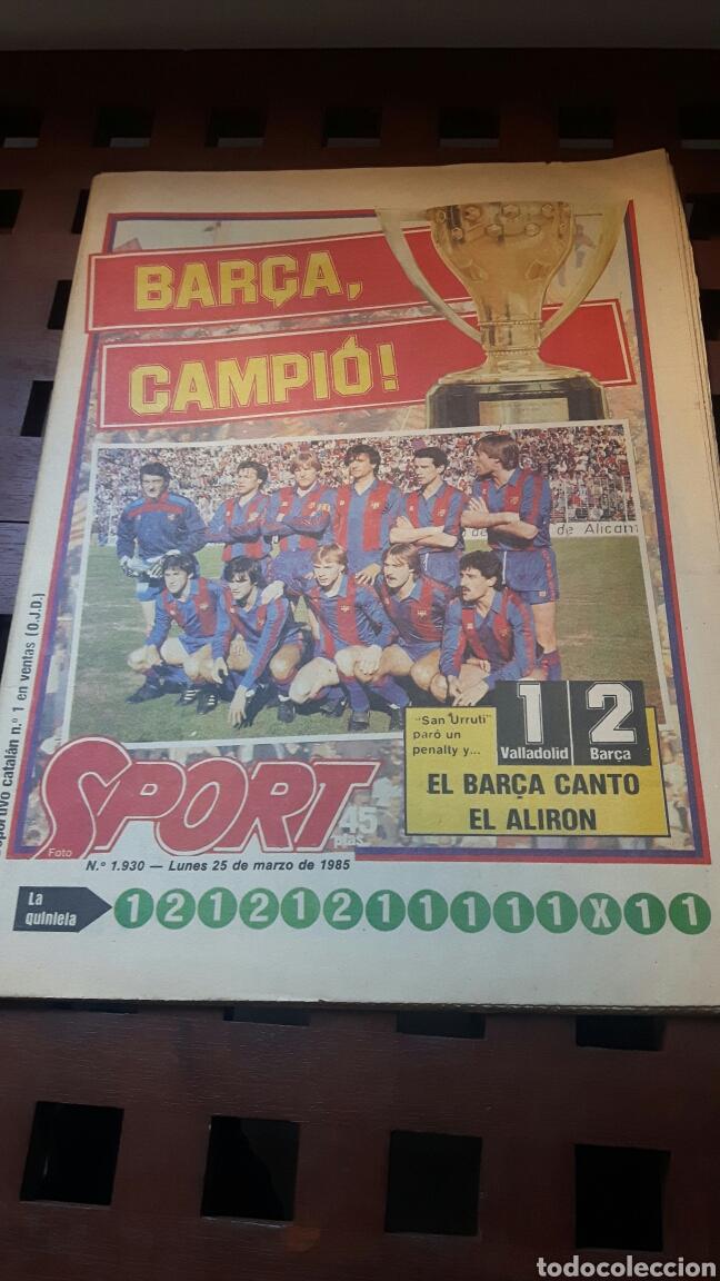 BARÇA CAMPEON DE LIGA 1985 (Coleccionismo Deportivo - Revistas y Periódicos - Sport)