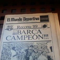 Coleccionismo deportivo: BARÇA CAMPEON RECOPA 1989. Lote 181114445