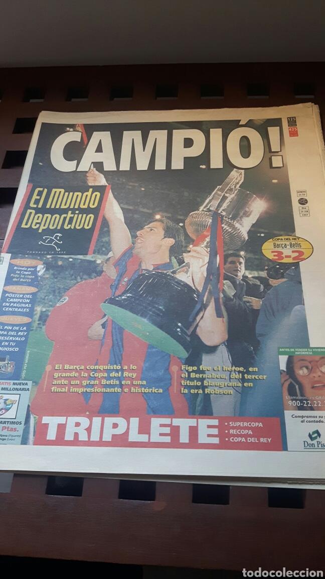 BARÇA CAMPEON COPA DEL REY 1997 (Coleccionismo Deportivo - Revistas y Periódicos - Mundo Deportivo)