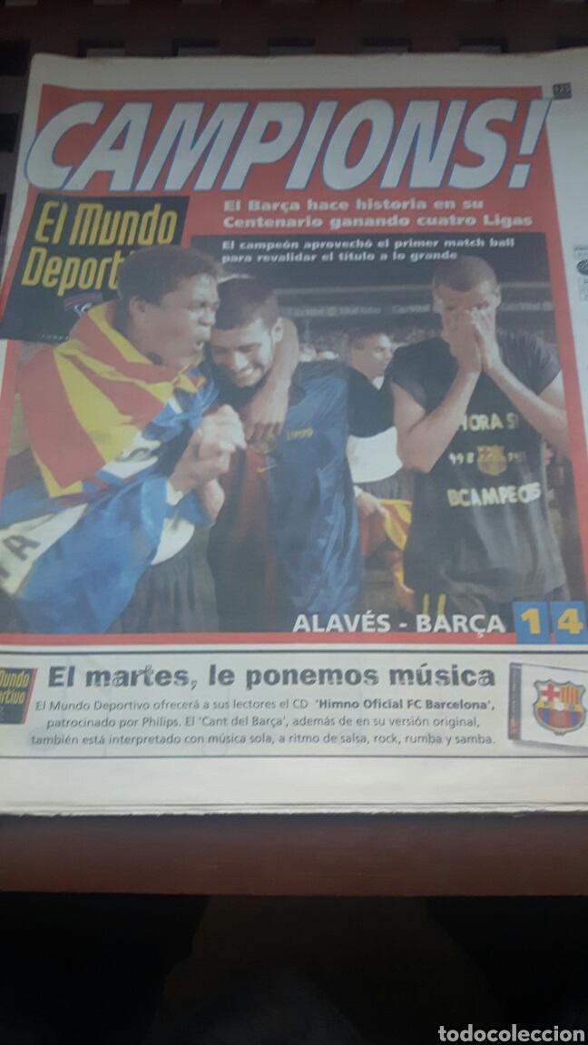 BARÇA CAMPEON DE LIGA 1999 (Coleccionismo Deportivo - Revistas y Periódicos - Mundo Deportivo)