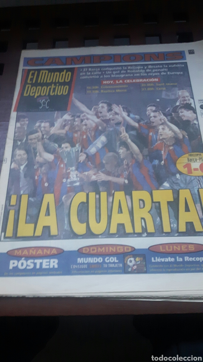 BARÇA CAMPEON RECOPA EUROPA 1997 (Coleccionismo Deportivo - Revistas y Periódicos - Sport)
