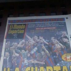 Coleccionismo deportivo: BARÇA CAMPEON RECOPA EUROPA 1997. Lote 181134561