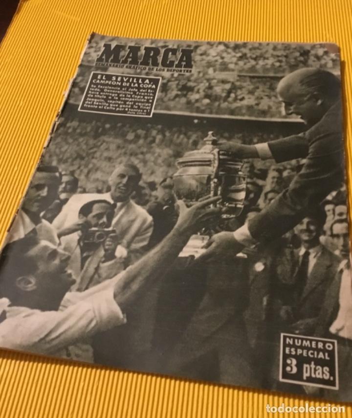 SEVILLA CAMPEÓN DE LA COPA 1948 SEMANARIO MARCA TOTALMENTE ORIGINAL (Coleccionismo Deportivo - Revistas y Periódicos - Marca)