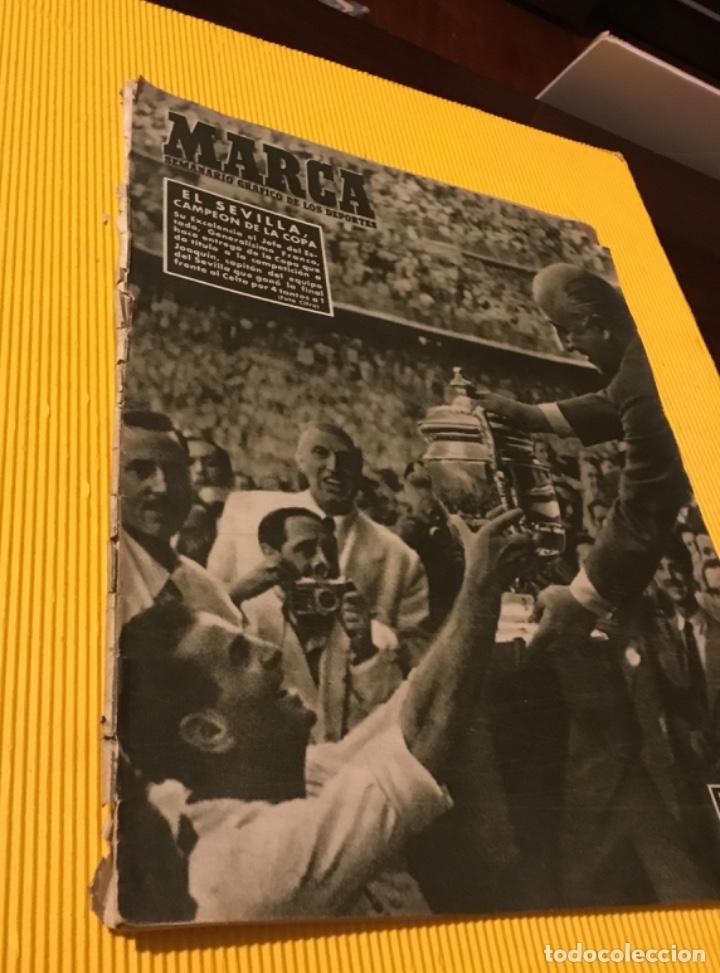 Coleccionismo deportivo: Sevilla campeón de la copa 1948 semanario marca totalmente original - Foto 3 - 181142366