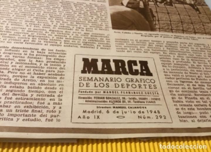 Coleccionismo deportivo: Sevilla campeón de la copa 1948 semanario marca totalmente original - Foto 4 - 181142366