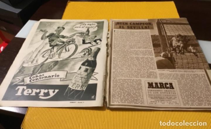 Coleccionismo deportivo: Sevilla campeón de la copa 1948 semanario marca totalmente original - Foto 5 - 181142366