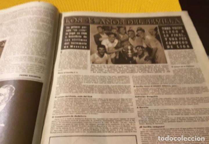 Coleccionismo deportivo: Sevilla campeón de la copa 1948 semanario marca totalmente original - Foto 7 - 181142366